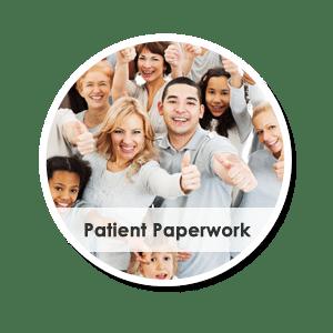 patient paperwork circle